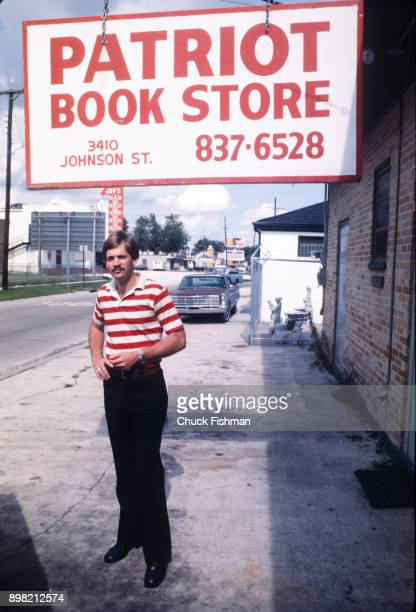 Portrait of American white supremacist and Grand Wizard of the Ku Klu Klan David Duke as he poses outside his Patriot Bookstore Metairie Louisiana...