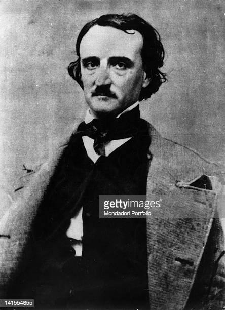 Portrait of American writer Edgar Allan Poe 1840s