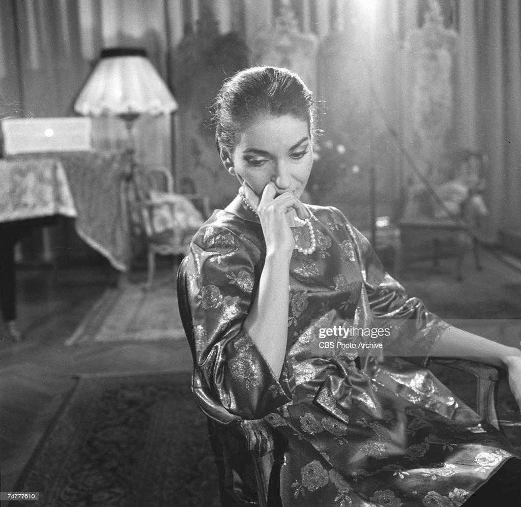 Maria Callas On 'Small World : News Photo