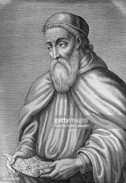 Portrait of Amerigo Vespucci Italian explorer navigator and cartographer engraving 16th century