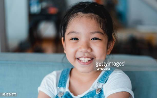 portrait of an adorable chinese girl - very young asian girls stock photos and pictures