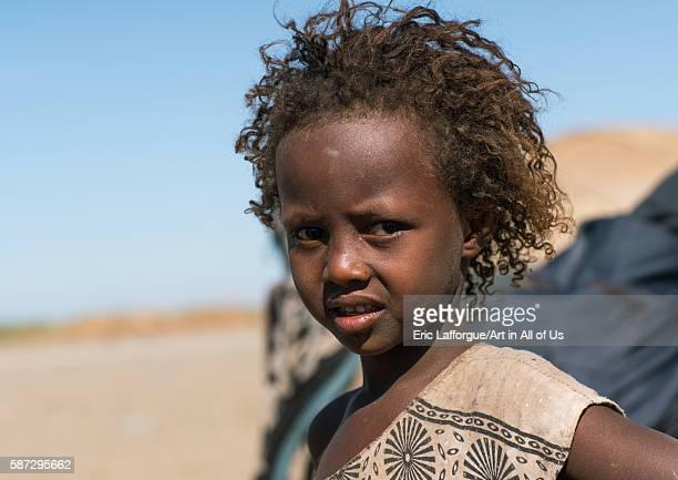 Portrait of an afar tribe girl afar region assayta Ethiopia on March 1 2016 in Assayta Ethiopia