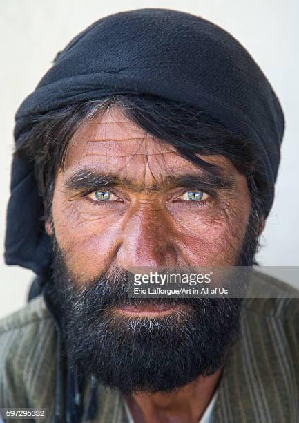 Portrait of an afghan man with clear eyes badakhshan province khandood Afghanistan on August 9 2016 in Khandood Afghanistan