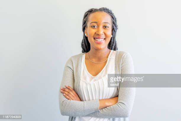 portrait of an african businesswoman in her 20s - locs hairstyle stock pictures, royalty-free photos & images