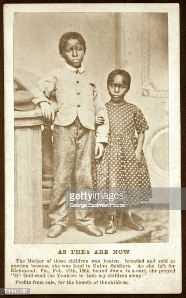 Portrait of an AfricanAmerican brother and sister both of whom are former slaves 1864 The image entitled 'As They Are Now' a pair with one entitled...