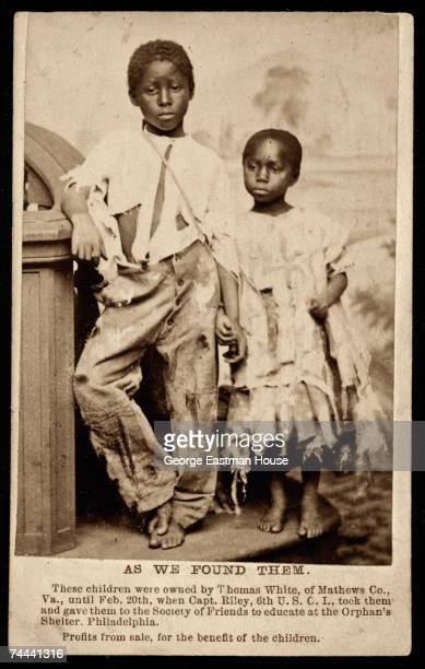 Portrait of an AfricanAmerican brother and sister both of whom are former slaves 1864 The image entitled 'As We Found Them' a pair with one entitled...