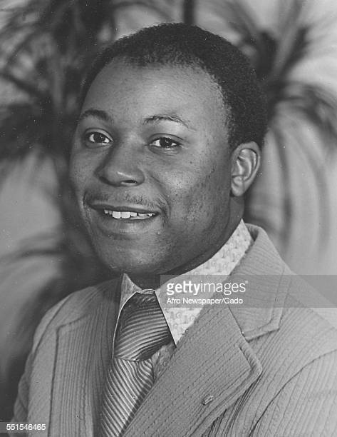 Portrait of an AfricanAmerican man in a suit who worked for an insurance company August 28 1968