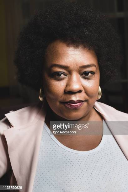 portrait of an afro-american mature woman - curvy african women stock pictures, royalty-free photos & images