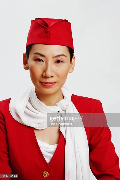 Portrait of an air stewardess