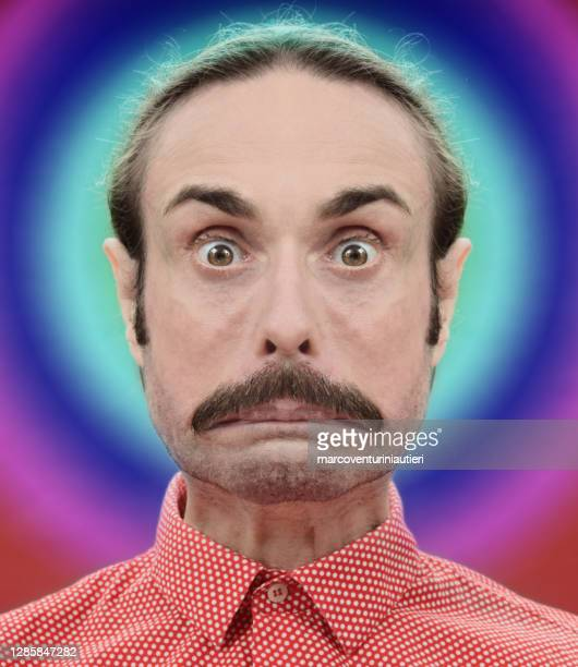 portrait of an amazing and amazed weirdo - marcoventuriniautieri stock pictures, royalty-free photos & images