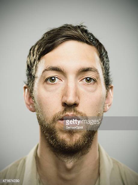 portrait of an american real man - blank expression stock pictures, royalty-free photos & images