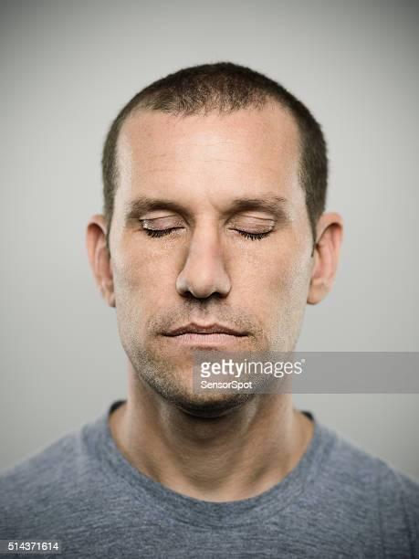 Porträt von einem amerikanischen Real Mann.