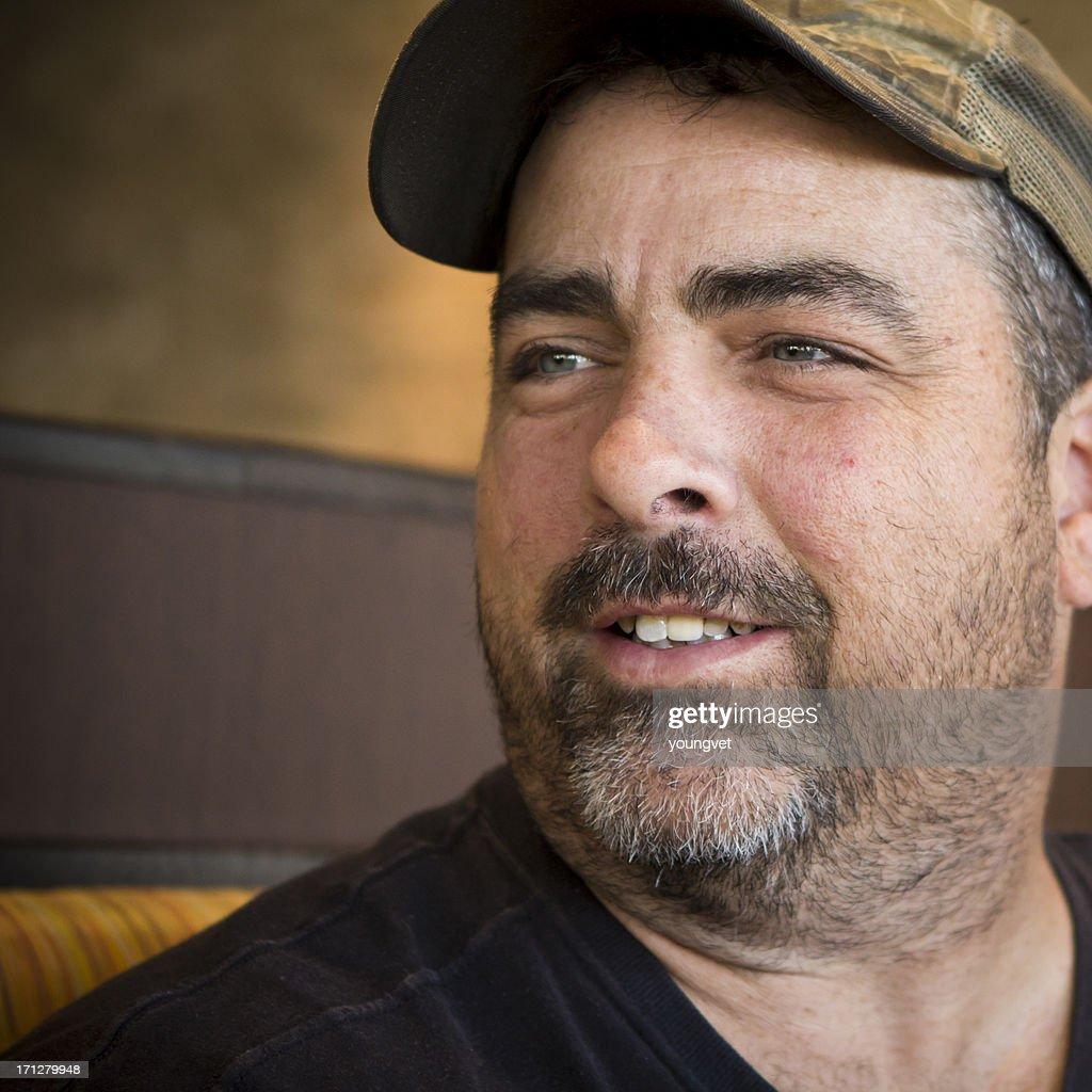 Portrait of an American Redneck : Stock Photo