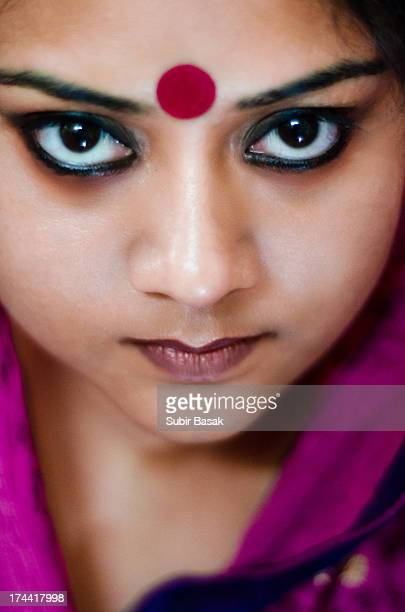 Portrait of an an Indian woman with beautiful eyes