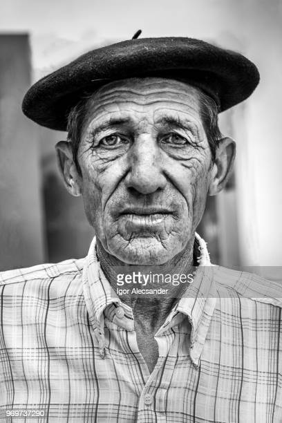portrait of an argentine gaucho - argentina traditional clothing stock photos and pictures