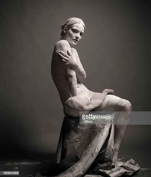 Portrait d'une femme artistique