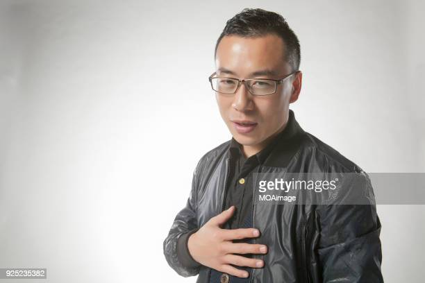 Portrait of an Asian middle-aged man