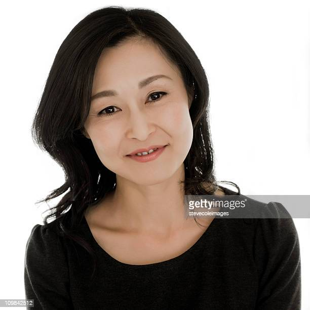 Portrait of an Asian Woman - Isolated