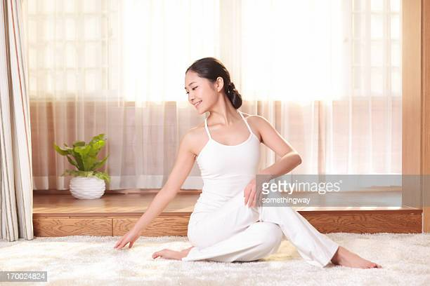 Portrait of an attractive young woman  yoga