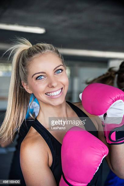 Portrait of an australian boxing woman