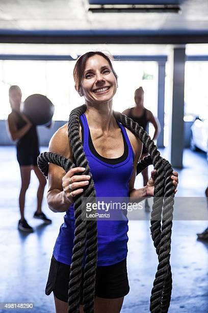 Portrait of an australian sporty woman