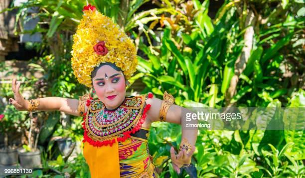 Portrait of an Balinese dancer dancing