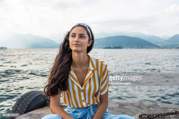 portrait of an beautiful woman. - looking away stock pictures, royalty-free photos & images