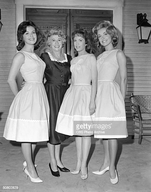 Portrait of an early version of the cast of 'Petticoat Junction' California April 24 1963 Left to right American actresses Pat Woodell Bea Benaderet...