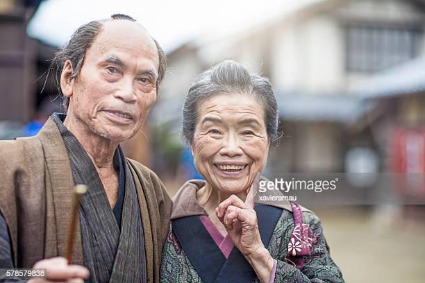 Portrait of an Edo period Japanese couple