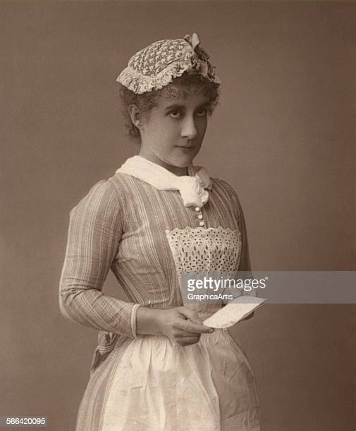 Portrait of an Edwardian era servant or chambermaid woodburytype 1912