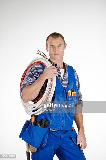 Portrait of an electrician.