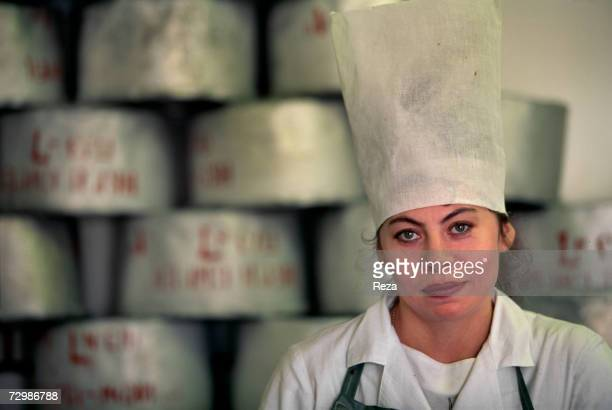 A portrait of an employee on factory boat N9 where the caviar of the sturgeons caught on the official fishing site Ogonyovka N9 is processed at Volga...