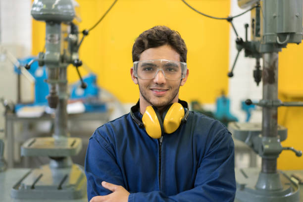 portrait of an engineering student at the university - student workers stock pictures, royalty-free photos & images