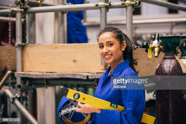 portrait of an engineering student - stem stock pictures, royalty-free photos & images