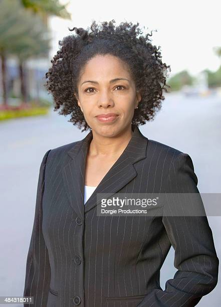 Portrait of an ethnic female executive in a suit
