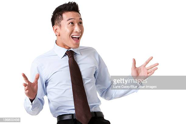 Portrait of an Excited Businessman
