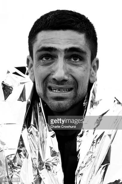 A portrait of an exhausted participant after completing the race during IRONMAN Italy Emilia Romagna on September 23 2017 in Cervia Italy