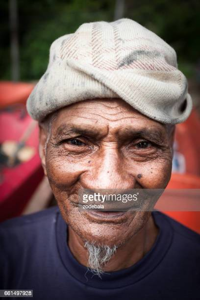 portrait of an fisherman in thailand - thailandia stock photos and pictures