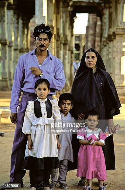 Portrait of an Indian family in Delhi India