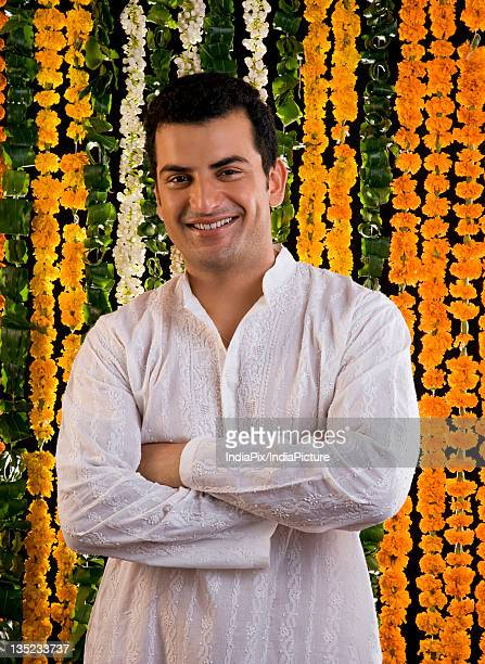 portrait of an indian man - kurta stock pictures, royalty-free photos & images