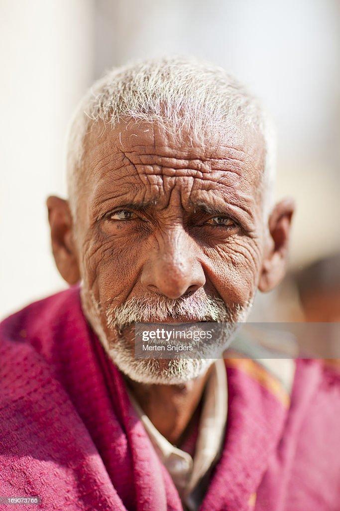 Portrait of an Indian man : Stockfoto
