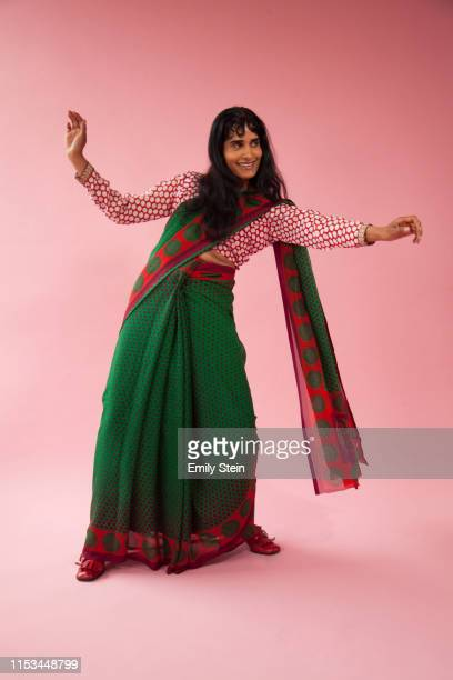 portrait of an indian women dancing - womenswear stock pictures, royalty-free photos & images