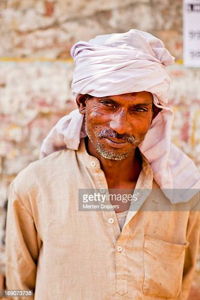 portrait of an indian working man - merten snijders stock pictures, royalty-free photos & images