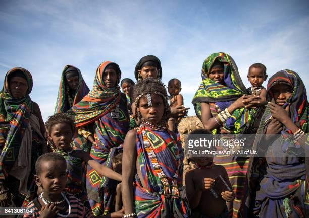 Portrait of an Issa tribe family on January 14 2017 in Yangudi Rassa National Park Ethiopia