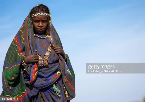 Portrait of an Issa tribe girl on January 14 2017 in Yangudi Rassa National Park Ethiopia