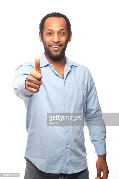 Portrait of an north african with thumbs up