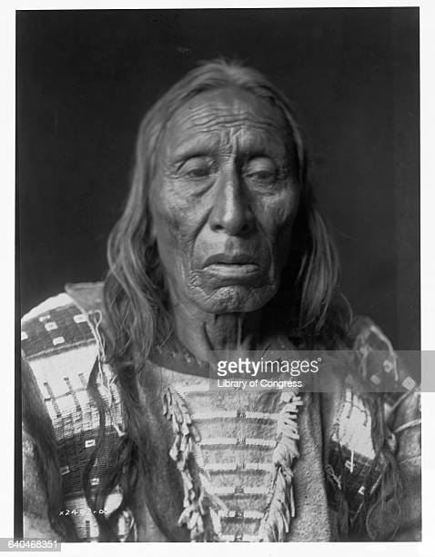 A portrait of an Oglala warrior His Fights who took part in the Battle of Little Bighorn published in Volume III of The North American Indian by...
