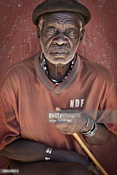 Portrait of an old Himba man