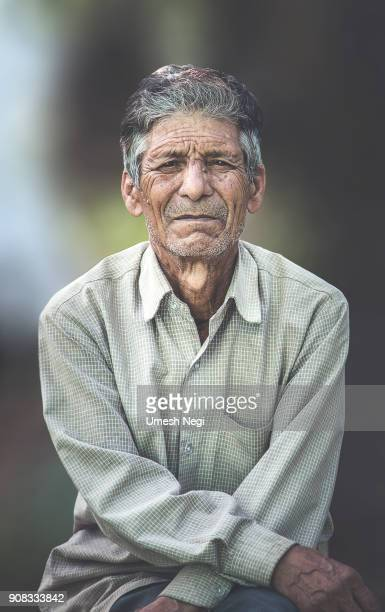 Portrait of an old Indian man.