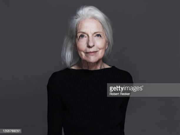 portrait of an old lady - human body part - fotografias e filmes do acervo